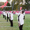The Oak Hill Drill Team performs before the game.