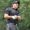 (Brad Davis/The Register-Herald) Phil Mickelson shoots from the fairway during first round Greenbrier Classic action Thurdsay afternoon in White Sulphur Springs.