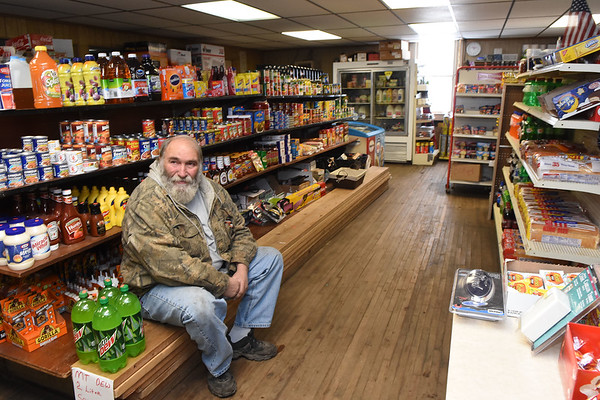 Danny Dantzler, of Sylester, hanging out at Charles B. Jarrell General Store on Coal River Road in Dry Creek<br /> (Rick Barbero/The Register-Herald