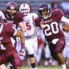 Woodrow Wilson vs Hurricane Friday night at Van Meter Stadium in Beckley.<br /> (Rick Barbero/The Register-Herald)