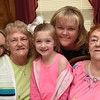 Ashley Thomas, 26  left, Margaret Williams, 70,  Karmyn Thomas, 5, Melissa Ryan, 47 and Zetta Underwood, 92, ar five generation of woman.<br /> (Rick Barbero/The Register-Herald)