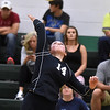 (Brad Davis/The Register-Herald) Meadow Bridge's Karlee Smith leaps to hit the ball during a volleyball matchup against Fayetteville Wednesday night at Fayetteville High School.