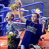 (Brad Davis/The Register-Herald) Young Greenbrier West family members react to events on the court against East Hardy during State Volleyball Tournament action Friday morning at the Charleston Civic Center.