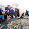 Nick Woros , 15, from Short Hills, N.J., tries out Spikeball at the Adventure Zone during the 2017 National Jamboree at The Summit Bechtel Reserve near Mt. Hope. (Chris Jackson/The Register-Herald)