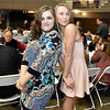 (Brad Davis/The Register-Herald) Wyoming East's Allie Lusk, left, and Gabby Lupardus pose for a quick shot during the Big Atlantic Classic Tip-Off Banquet Sunday afternoon at the Beckley-Raleigh County Convention Center.
