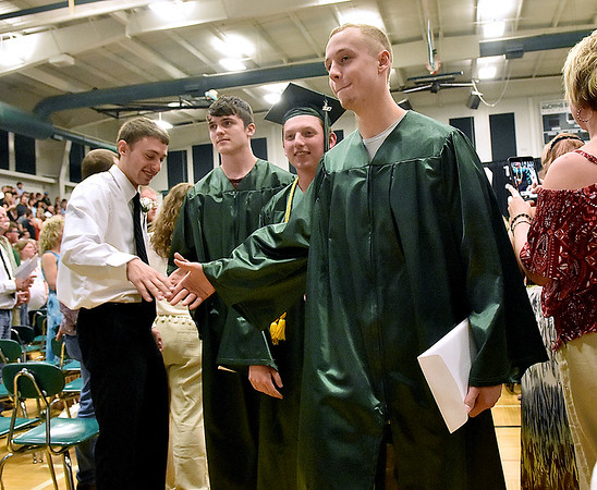 (Brad Davis/The Register-Herald) Wyoming East High School's 2017 Commencement Ceremony June 4 in New Richmond.