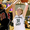 (Brad Davis/The Register-Herald) Wyoming East's Emily Saunders against St. Albans in the Big Atlantic Classic at the Beckley-Raleigh County Convention Center February 4.