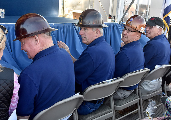 (Brad Davis/The Register-Herald) Some of the workers and engineers who worked on the New River Gorge bridge during its construction as they're honored during a ceremony for the bridge's 40th anniversary Saturday afternoon.