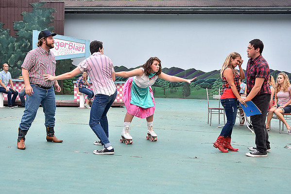 (Brad Davis/The Register-Herald) Scenes from Theatre West Virginia's Footloose at Grandview Park's Cliffside Amphitheatre.