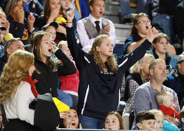 Nicholas County fans react to a call during their high school football game against James Monroe Friday in Summersville. (Chris Jackson/The Register-Herald)