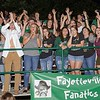 The Fayetteville Fanatics get excited for their team. Chad Foreman for the Register-Herald.