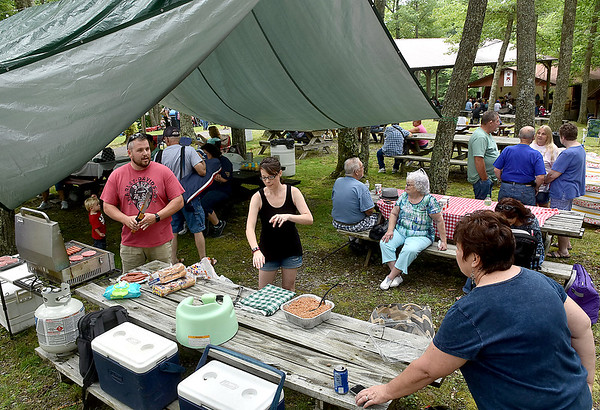 (Brad Davis/The Register-Herald) A scene from the picnic area during the annual Lilly Family Reunion Saturday afternoon near Ghent.