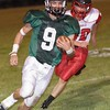 Fayetteville running back, Jordan Dempsey takes off down the sidelines. Chad Foreman for the Register-Herald.