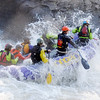 A group of rafters naviagte through the Pillow Rock Rapids on the Gauley River during the 2017 opening day of Gauley Season Friday.  (Chris Jackson/The Register-Herald)