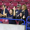 (Brad Davis/The Register-Herald) Greenbrier West family members disagree with a referee's call as they react to events on the court against East Hardy during State Volleyball Tournament action Friday morning at the Charleston Civic Center.