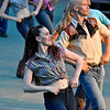 (Brad Davis/The Register-Herald) Performers rehearse scenes from Footloose June 15 at Grandview Park's Cliffside Amphitheatre.