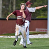 (Brad Davis/The Register-Herald) Woodrow Wilson's Shawn Blevins hustles around third to score as head coach Mark Daniel waves him around off a hit from Hunter Fansler during the Flying Eagles' loss to St. Albans Friday evening in Beckley.