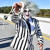 (Brad Davis/The Register-Herald) Bettlejuice, Beetlejuice, Beetlejuice during Bridge Day Saturday afternoon.