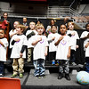 Members of the YMCA Happy Kids Pre-School Choir sing the pledge of allegiance during the 31st annual Spirit of Beckley Award at the Beckley-Raleigh County Convention Center in Beckley on Monday. (Chris Jackson/The Register-Herald)