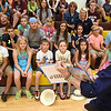 First Lady Cathy Justice visited students at the Rainelle Elementary Energy Express site to promote summer reading and nutrition. During her visit, she read to the students and encourage them to read every day during the remainder of their summer break.<br /> (Rick Barbero/The Register-Herald)