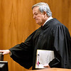 (Brad Davis/The Register-Herald) Judge H.L. Kirkpatrick enters the court for the start of a mock trial with middle and high school-aged homeschoolers from the Appalachian Christian Academy in Raleigh County Ciruit Court Monday afternoon.