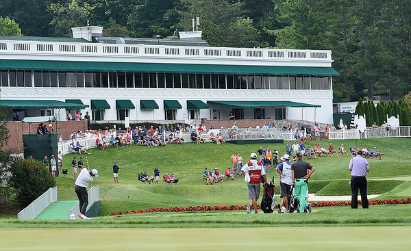 View of the 18th hole during the second round of The Greenbrier Classic.<br /> (Rick Barbero/The Register-Herald)