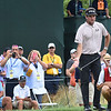 Bubba Watson looks over his putt on the 17th hole during the second round of The Greenbrier Classic.<br /> (Rick Barbero/The Register-Herald.com