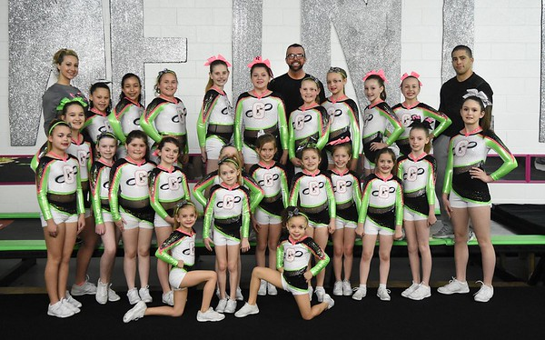 GymFinity All-Stars teams, Cosmo and Galaxy, are a traveling competitive cheerleading team coached by, Adam Holstein, tumbling instructor and head coach, Miranda Elkins, assistant cheer coach and Orlando Usan, gymnastics instructor and assistant cheer coach.
