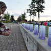 (Brad Davis/The Register-Herald) Scenes from the American Cancer Society's Relay for Life atop Beckley's Intermodal Gateway Friday night.