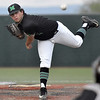 (Brad Davis/The Register-Herald) Marshall starting pitcher Joshua Shapiro delivers during the Thundering Herd's win over Florida International Friday evening at Linda K. Epling Stadium.