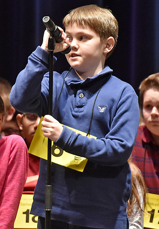 (Brad Davis/The Register-Herald) Monroe County's Brycen Whitt takes a turn during the 2017 Gazette-Mail Regional Spelling Bee Saturday afternoon at Capital High School in Charleston.