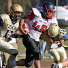 (Brad Davis/The Register-Herald) Oak Hill ball carrier Ta'than Gray Saturday afternoon in Shady Spring.