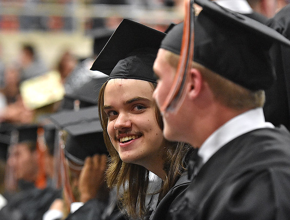 (Brad Davis/The Register-Herald) Summers County High School's 2017 commencement ceremony Friday evening in Hinton.