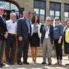 (Brad Davis/The Register-Herald) From left, Beckley mayor Rob Rappold, delegate Mick Bates, L&S Toyota owner Shawn Ball, United Way of Southern West Virginia Executive Director Michelle Rotellini, WVU President E. Gordon Gee, state senator Sue Cline and WVU Tech President Caroyln Long pose for a photo together following a brief ceremony marking the first day of classes for Tech on the Beckley campus Wednesday afternoon.