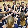 (Brad Davis/The Register-Herald) The Valley (Fayette) Greyhounds come together for some pre-game encouragement as they get fired up prior to their opening round game against Midland Trail in the Region 3, Section 1 tournament Saturday evening at Oak Hill High School.