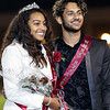 Homecoming Queen, Aaliyah Williams, and Homecoming King, Hamza Jafarg enjoy a moment of happiness during the Woodrow Wilson halftime festivities. Chad Foreman for the Register-Herald.