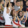 (Brad Davis/The Register-Herald) Indy students celebrate a 3rd quarter Patriot touchdown against Summers County Friday night in Coal City.