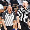 Westside head coach Shawn Jenkins, yells at a official during game against Winfield in the quarter-final game of the Class AA Boys State Basketball Tournament held at the Charleston Civic Center. Winfield won 68-65<br /> (Rick Barbero/The Register-Herald)