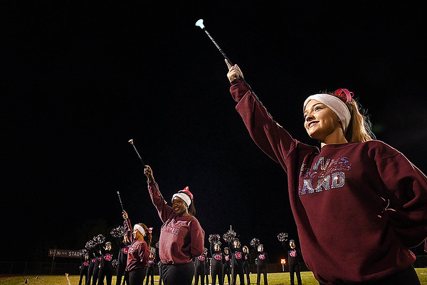 Woodrow Wilson band performing during game against Capitol at Van Meter Stadium in Beckley Friday Night.<br /> (Rick Barbero/The Register-Herald)