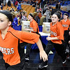 (Brad Davis/The Register-Herald) The Lady Bobcats take the court prior to their semifinal game against St. Joseph Central Friday night at the Charleston Civic Center.