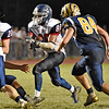 (Brad Davis/The Register-Herald) Independence's Niko Burgess carries the ball Thursday night in Shady Spring.