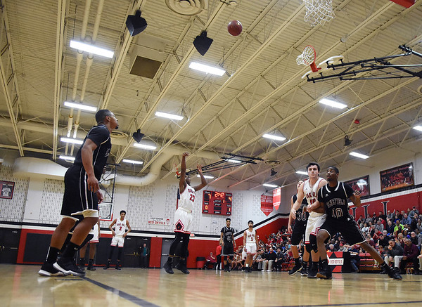 Oak Hill's Andrew Work takes a free-throw during their game against Bluefield in Oak Hill on Tuesday. (Chris Jackson/The Register-Herald)