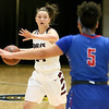 (Brad Davis/The Register-Herald) Woodrow Wilson's Elizabeth Cadle drives across mid-court against Morgantown during Big Atlantic Classic action Thursday night at the Beckley-Raleigh County Convention Center.