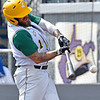 (Brad Davis/The Register-Herald) Miners batter Kendrick Epling makes contact during a loss to Kokomo Sunday afternoon at Linda K. Epling Stadium. He was 1-4 with a single on the day.