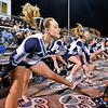 (Brad Davis/The Register-Herald) Meadow Bridge cheerleaders perform Friday night in Meadow Bridge.