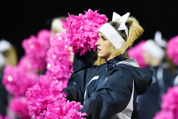 Shady Spring cheerleaders perform during the first quarter of their football game against Liberty Friday in Shady Spring. (Chris Jackson/The Register-Herald)