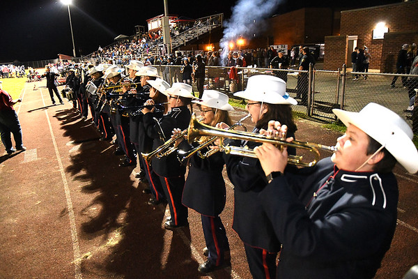 Independence band performing on the sideline during game vs Liberty at Independence High School Friday night.<br /> (Rick Barbero/The Register-Herald