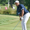 (Brad Davis/The Register-Herald) Harold Varner III chips onto the no. 17 green during the Military Tribute at The Greenbrier Sunday afternoon in White Sulphur Springs.