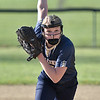 (Brad Davis/The Register-Herald) Greenbrier West starting pitcher Kenley Posten starts her delivery during sectional action against Summers County Wednesday evening at Western Greenbrier Middle School.