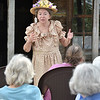 (Brad Davis/The Register-Herald) Legendary country comedian Minnie Pearl (left), a.k.a. Charleston-based character actress Denise Giardina, comes to life she delivers a humorous take on her life to a large crowd during another History Alive presentation Sunday afternoon at WIldwood House. Pearl, whose real name was Sarah Ophelia Colley Cannon, was best known for her appearances at the Grand Ole Opry for over 50-years (1940-1991) as well as Hee Haw from 1969 to 1991. She died March 4, 1996 at age 83.